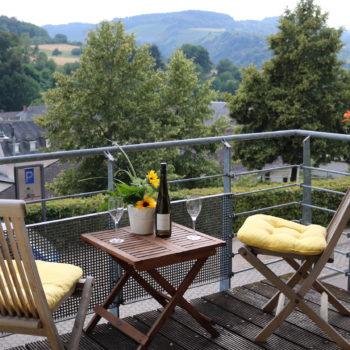 Blich vom Balkon in das schöne Saartal